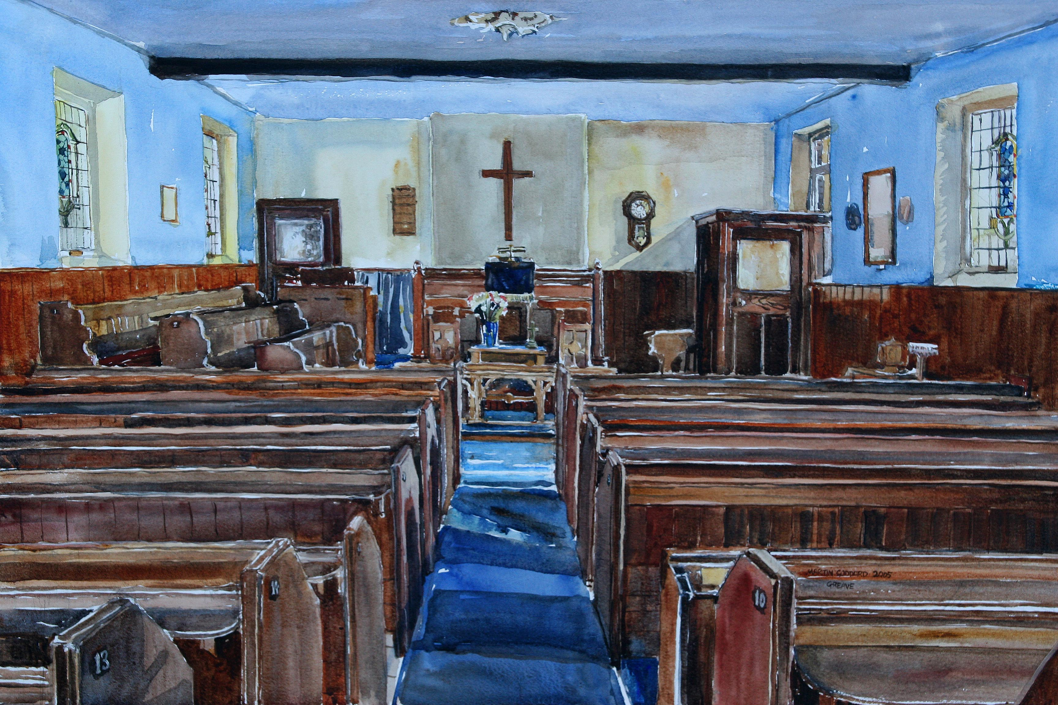 The Old Greave Methodist Church, Interior